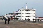 Le bateau M/S Gungu en partance pour Bandundu ville dans la province du Kwilu